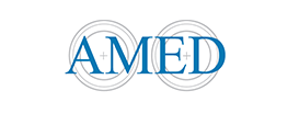 amed logo on a white background