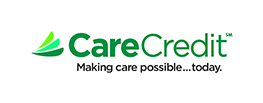 green carecredit logo on a white background