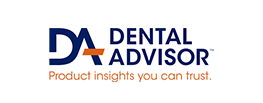 logo for dental advisor on a white background