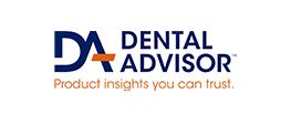 logo for dental advisor on a white background