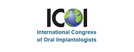 logo for the international congress of oral implantologists on a white background